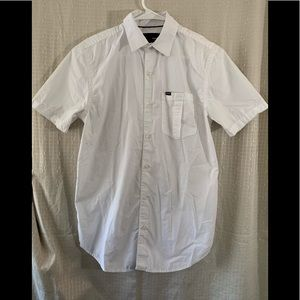 Hurley White Button Up Shirt Size Small